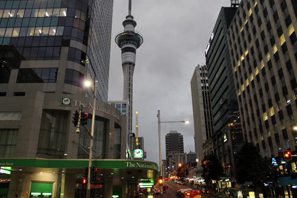 Skyline, desde el centro de Auckland
