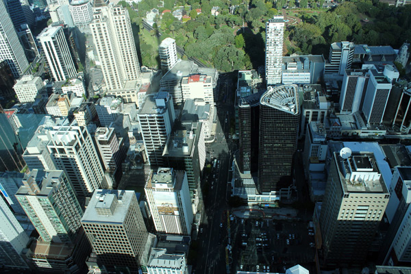 Vista del centro de Auckland desde el Sky Tower